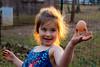 Mia with an egg - 2016-11-24