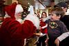 Santa and Jasper hi five - 2016-12-04