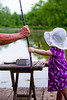 Granddad and Nina catch a fish on the cane pole - 2016-05-29