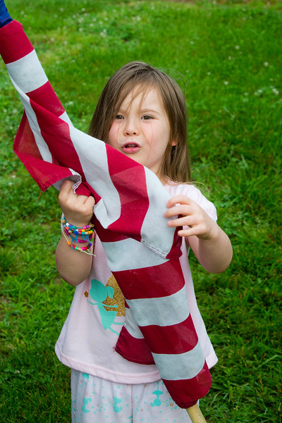 Mia with the flag - 2016-05-30