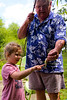 Mia and Granddad and a fish - 2016-07-30