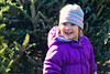 Mia picking out a Christmas tree - 2016-12-10