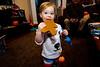Nina and a gingerbread man - 2016-12-25