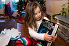 Mia and a big Star Wars pop up book - 2016-12-25