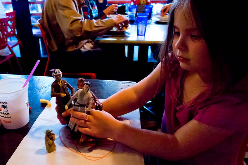 Mia and Star Wars figures - 2016-03-11