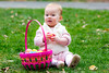Nina sitting by her basket - 2016-03-27