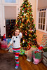 Mia on Christmas morning - 2016-12-25