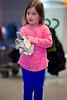Mia tries on a glove - 2016-02-14