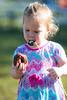 Nina contemplates a donut and marshmallow - 2017-10-21