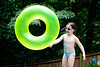 Mia and an inner tube - 2017-07-04