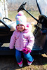 Nina hanging out at the golf cart - 2017-03-05
