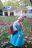 Nina and her trick or treat bag - 2017-10-31