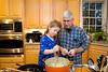 Mia and Grandpa make mashed potatoes - 2017-11-23