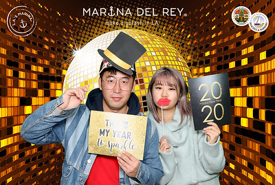 Marina del Rey's NYE Fireworks and Glow Party. #ilovemdr  #MDRholidays.  Photo booth by @VenicePaparazzi