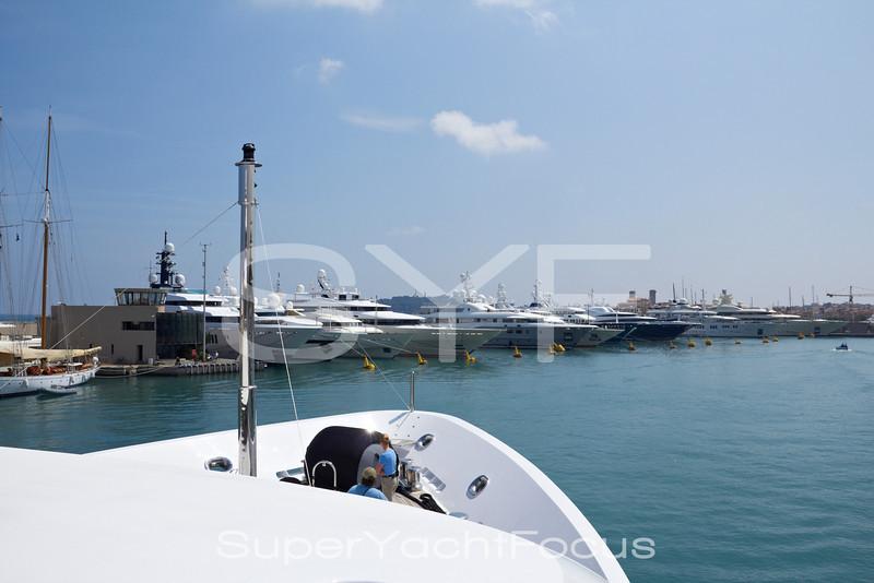 Berthing in marina