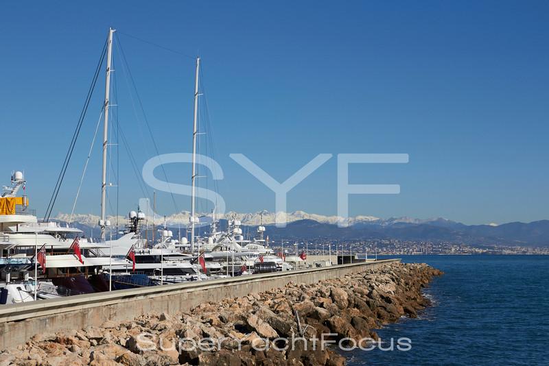 Superyachts, Port Vauban, Antibes