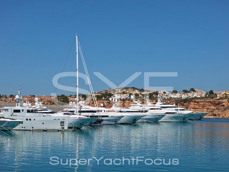 Superyachts in Port Adriano, Mallorca