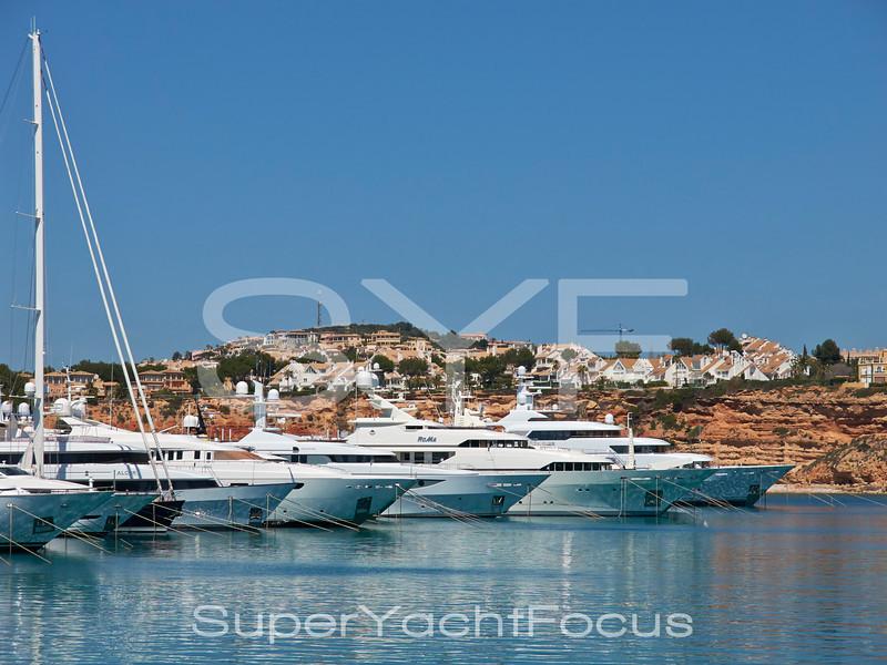 Superyachts, Port Adriano, Mallorca