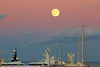 Port Vauban,Antibes,moonrise