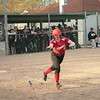 Shanna Kowalewski takes a walk for Marine City Cardinal Mooney on Tuesday. The Cardinals dropped both games to Royal Oak Shrine.