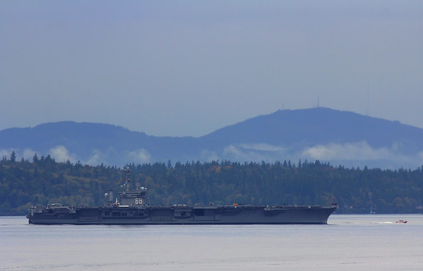 6+ Miles Away - CVN 68 USS Nimitz - Oct 2016