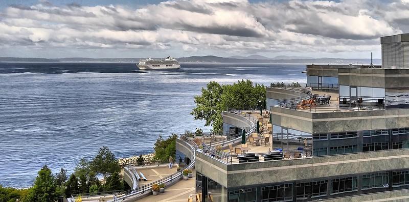 Cell Pic - 2nd Cruise Ship into 2016 Seattle Cruise Ship Season