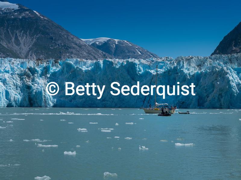 Sailboat in Front of Dawes Glacier