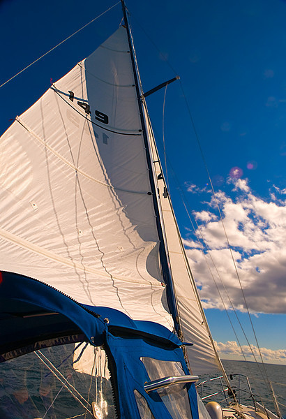 Sailing, Lake Huron, Michigan