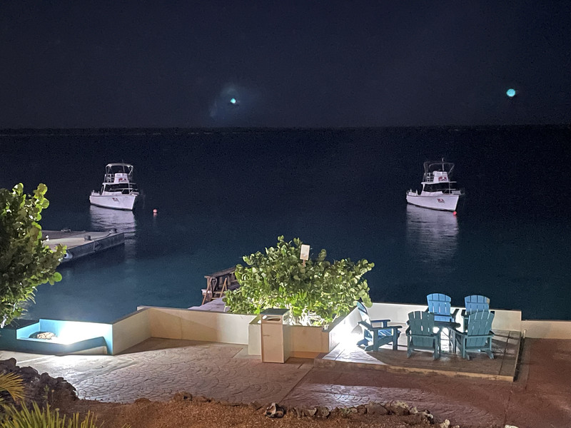 The resort on the Sea at night