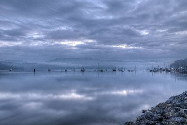 Early Morning - Cowichan Bay In The Blue Hour, Vancouver Island, British Columbia, Canada