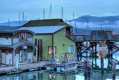 "Cowichan Bay Marina - Cowichan Bay, BC, Canada Visit our blog ""Chief Tzouhalem's Mighty Mountain"" for the story behind the photo."