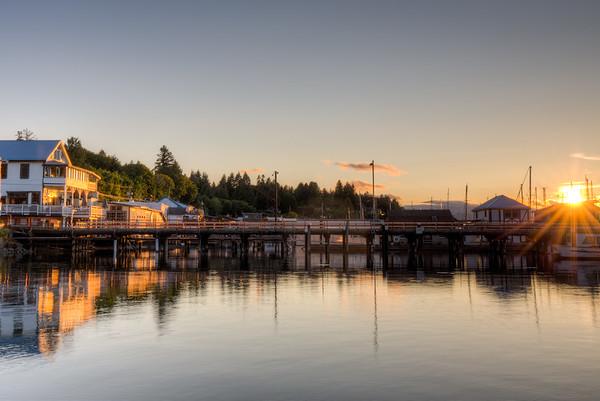 Cowichan Bay Sunset - Cowichan Bay, Vancouver Island, British Columbia, Canada