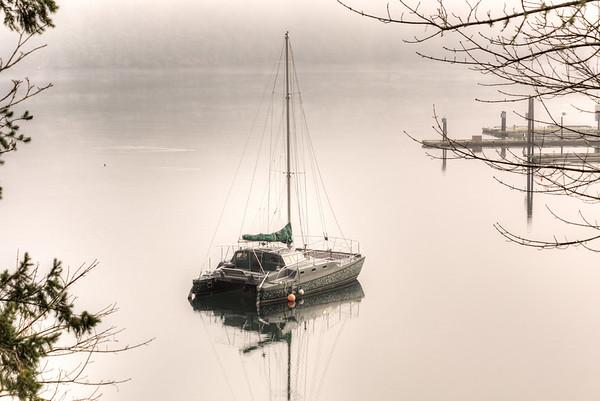 Misty Catamaran - Genoa Bay, Vancouver Island, British Columbia, Canada