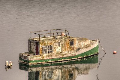 Anchored Boat - Genoa Bay, Vancouver Island, British Columbia, Canada