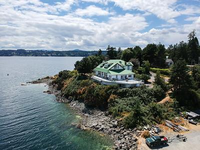 Genoa Bay - Aerial Drone Photography - Cowichan Valley, Vancouver Island, British Columbia, Canada