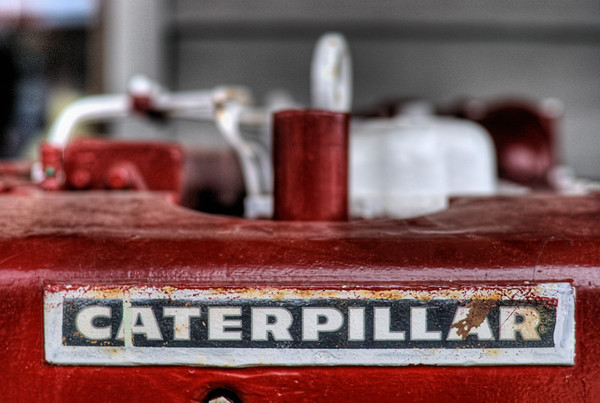 Caterpillar Diesel Engine - Wooden Boat Festival - Maple Bay Marina, BC, Canada