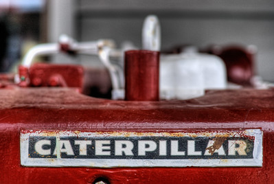 """Caterpillar Diesel Engine - Wooden Boat Festival - Maple Bay Marina, BC, Canada Visit our blog """"The Toad & The Caterpillar"""" for the story behind the photo."""