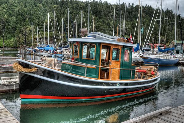 Classic Boat - Wooden Boat Festival - Maple Bay Marina, BC, Canada