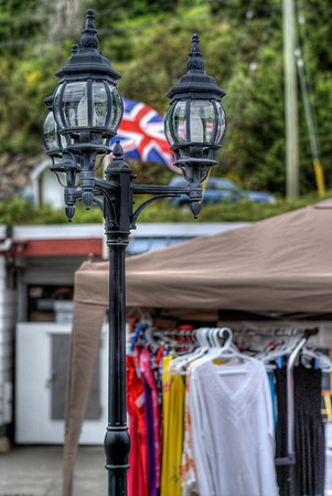 Lamp Post - Wooden Boat Festival - Maple Bay Marina, BC, Canada