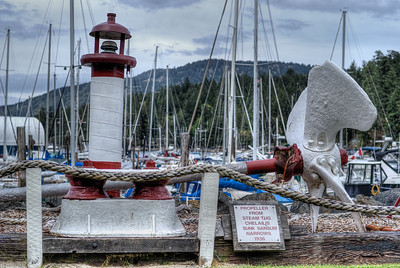 """Steam Tug Chelailis Propeller - Sunk 1936 - Wooden Boat Festival - Maple Bay Marina, BC, Canada Visit our blog """"Now, That's A Propeller"""" for the story behind the photos."""