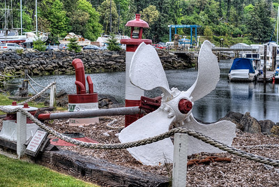 "Steam Tug Chelailis Propeller - Sunk 1936 - Wooden Boat Festival - Maple Bay Marina, BC, Canada Visit our blog ""Now, That's A Propeller"" for the story behind the photos."