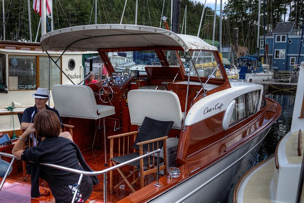 Classic Chris-Craft Wooden Boat - Maple Bay, Vancouver Island, BC, Canada