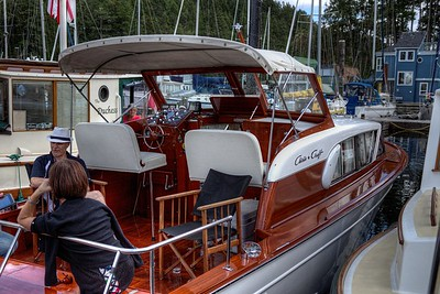 """Classic Chris-Craft Wooden Boat - Maple Bay, Vancouver Island, BC, Canada Visit our blog """"The Joy Of Chris-Craft"""" for the story behind the photo."""