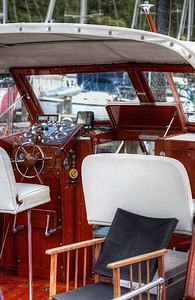 "Classic Chris-Craft Wooden Boat - Maple Bay, Vancouver Island, BC, Canada Visit our blog ""The Joy Of Chris-Craft"" for the story behind the photo."