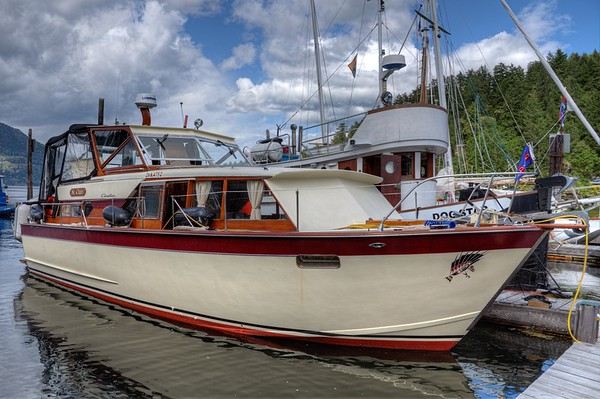 Classic Wooden Boat - Maple Bay, Vancouver Island, BC, Canada
