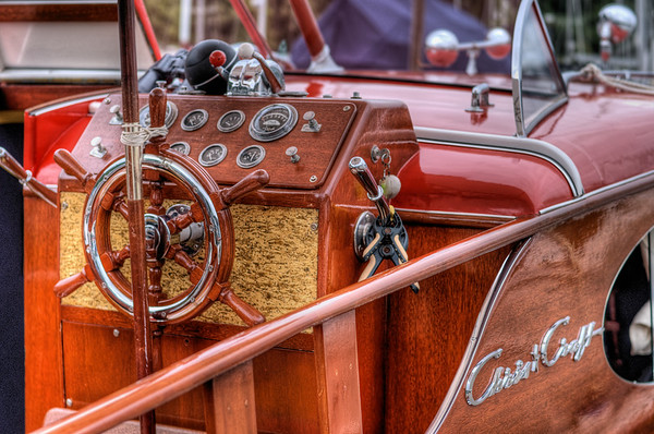Chris-Craft Classic Boat - Wooden Boat Festival - Maple Bay Marina, BC, Canada