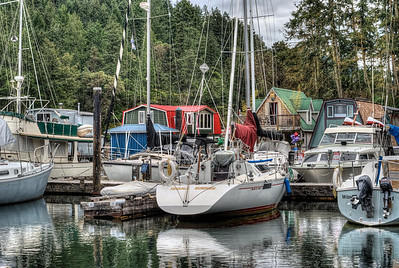 """House Boats - Wooden Boat Festival - Maple Bay Marina, BC, Canada Visit our blog """"Life On A House Boat"""" for the story behind the photos."""