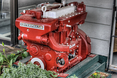 "Caterpillar Diesel Engine - Wooden Boat Festival - Maple Bay Marina, BC, Canada Visit our blog ""The Toad & The Caterpillar"" for the story behind the photo."