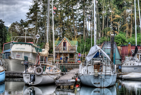 House Boats - Wooden Boat Festival - Maple Bay Marina, BC, Canada