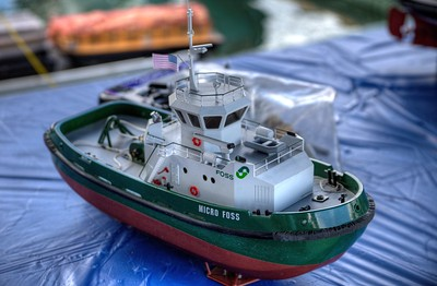 Remote Control Boats - Wooden Boat Festival - Maple Bay Marina, BC, Canada